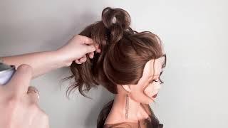 Красивая Прическа на Средние волосы Свадебная Вечерняя Высокий Пучок New Bridal Updo LOZNITSA