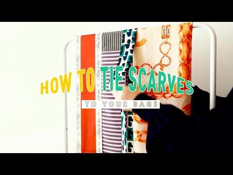 eng) 나만 알고싶은 스카프 연출법 5 : 맥시 트윌리, 트윌리, 까레 스카프 가방에 예쁘게 매는법