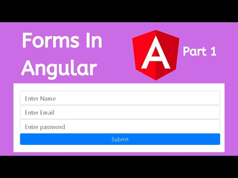 Forms Part-1 | Create forms in Angular | Angular Tutorials thumbnail