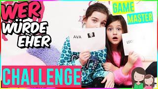 GAME MASTER Challenge! WER WÜRDE EHER Challenge mit Leona 👺 Alles Ava
