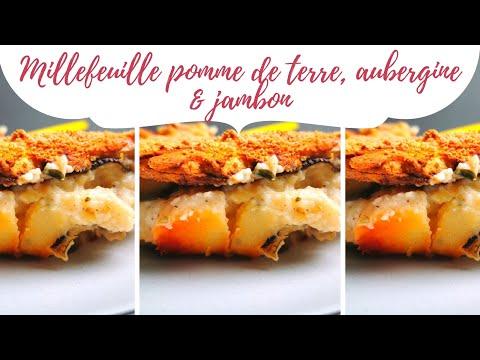 millefeuille-pomme-de-terre,-aubergine-&-jambon