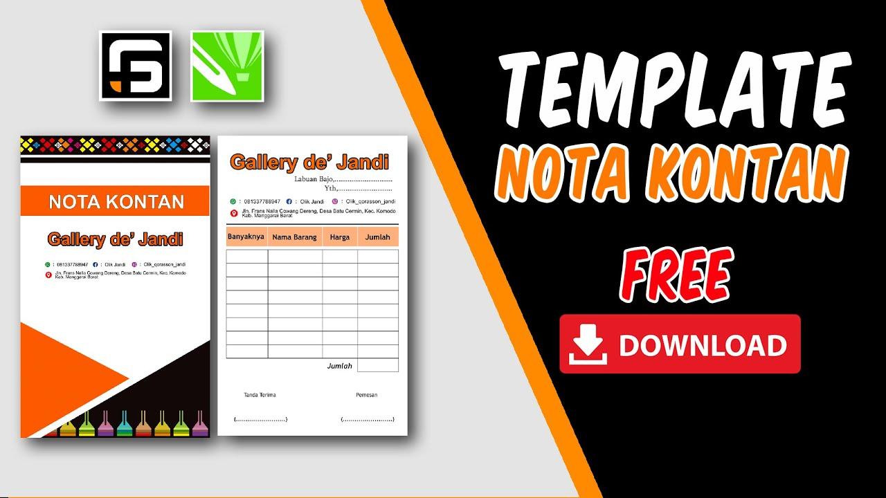 FREE Template Desain Nota Kontan Free Download   CorelDRAW X8