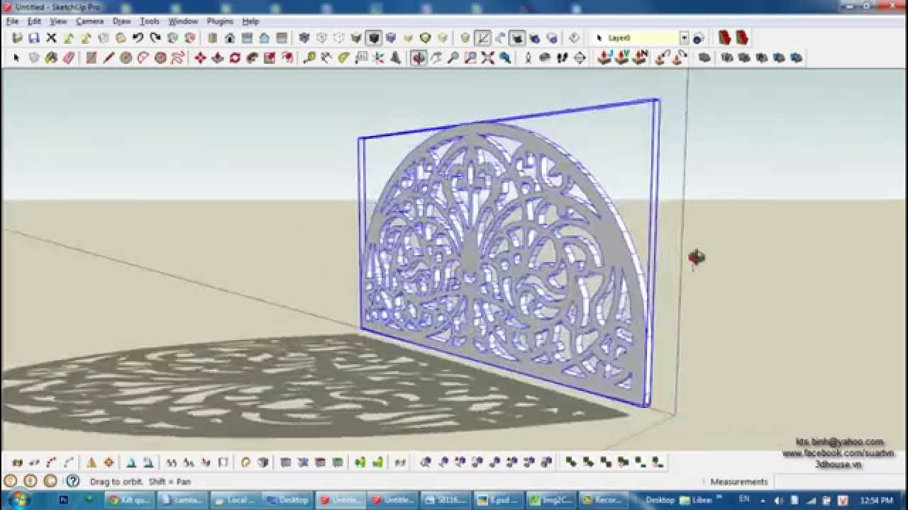 Sketchup sample house design free download youtube, sample.