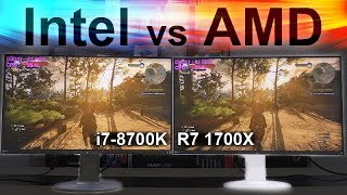 Intel vs AMD 2017 -- 8700K vs 1700X