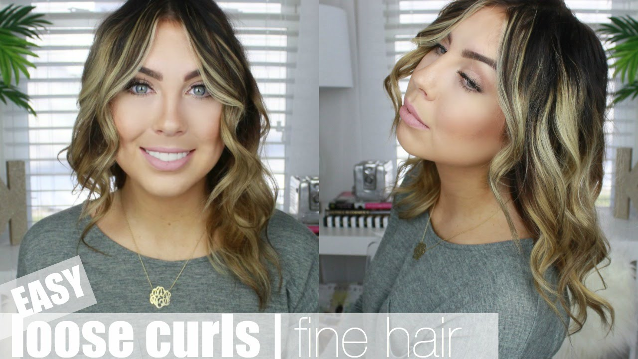 My Go To Loose Curls Fine Hair Youtube