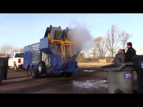 TRASH CART CLEANING DEMO WASTE CO 1 HYDRO-CHEM SYSTEMS