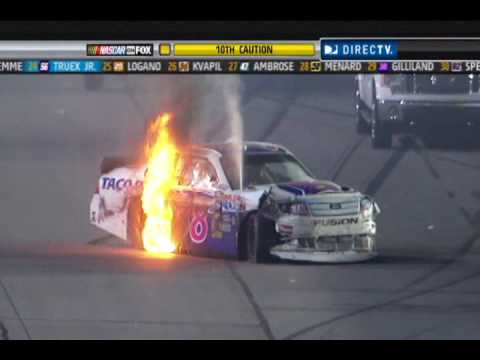 2010 Showtime Southern 500 - David Gilliland Crash
