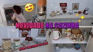 NOSSO NOVO MÓVEL CHEGOU  LIMPEI E ORGANIZEI + NOVO CANTINHO DO CAFÉ   Letícia Veloso