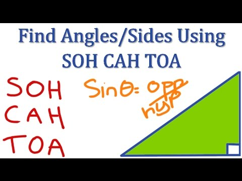 how to work out angle sohcahtoa