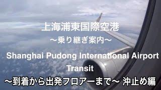 【中国東方航空】上海 浦東国際空港 乗り継ぎの様子 〜 到着から出発フロアーまで 〜【沖止め編】Shanghai Pudong International Airport Transit 【中国】