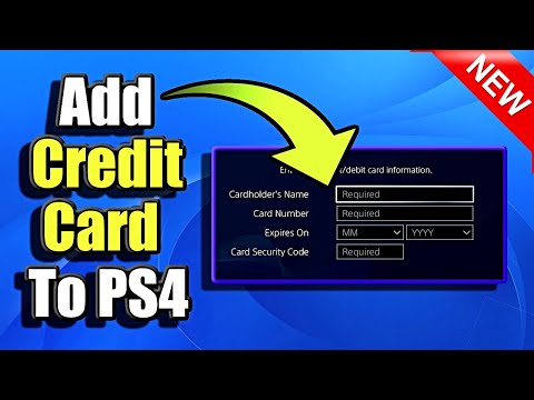 How to Add Credit Card to PS4 (Best Method)