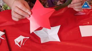 Как сделать звездочку на елку своими руками(Звездочка на елку своими руками - как сделать звездочку на елку своими руками из бумаги. Смотрите видео,..., 2014-12-01T19:21:26.000Z)