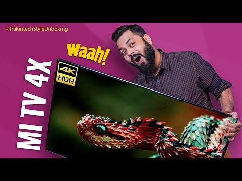 "Mi TV 4X 43"" Unboxing & First Impressions ⚡⚡⚡ A Budget 4K Smart TV!"