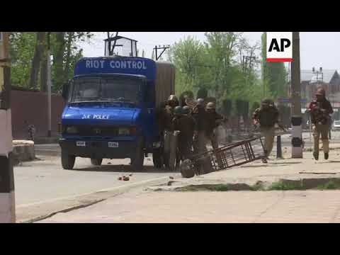 Kashmir students clash with India police after lockdown ends