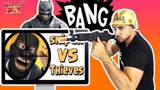 Папа Роб и Бэтмен Обзор мобильного приложения Snipers vs Thieves Видео для детей