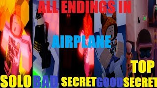 Airplane - ALL 5 ENDINGS (Up to Date)