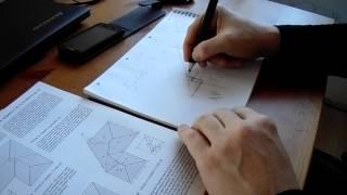 видео как рассчитать двухскатную крышу