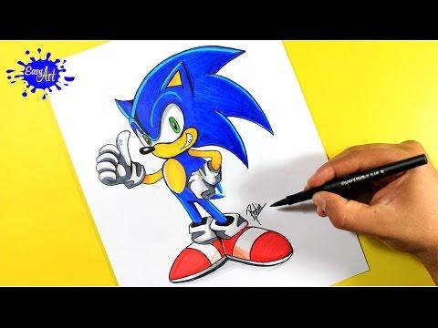 Drawing sonic sega como dibujar a sonic de sega dibujos de video