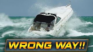 HAULOVER BOATS IN DANGEROUS WAVES!! | Boats at Haulover Inlet