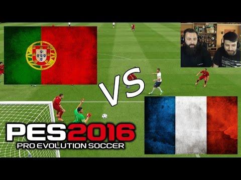 Portugal vs France | EURO 2016 | 10/7/16 - PES 2016