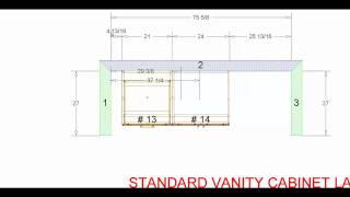Standard Vanity Cabinet Layout