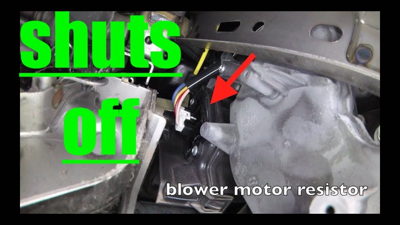 small resolution of fan shuts off blower motor resistor replacement nissan versa fix it angel