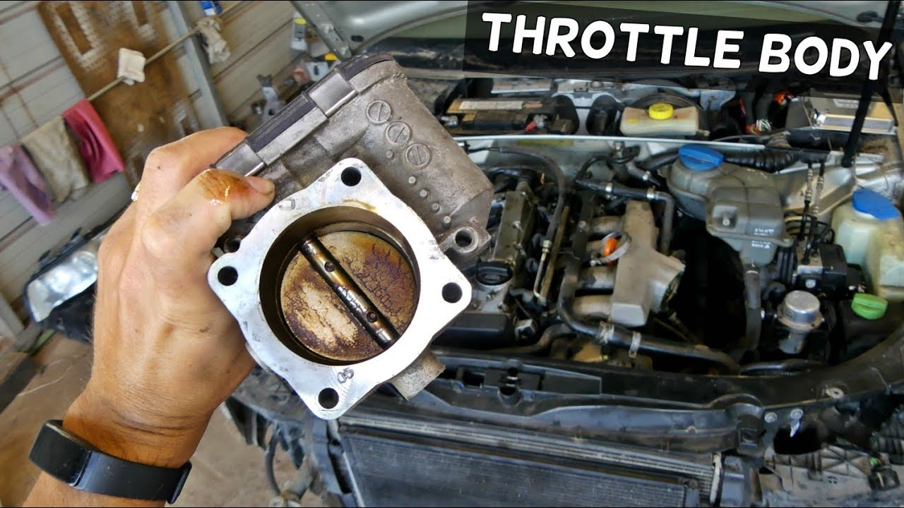 AUDI A4 B6 THROTTLE BODY REMOVAL REPLACEMENT