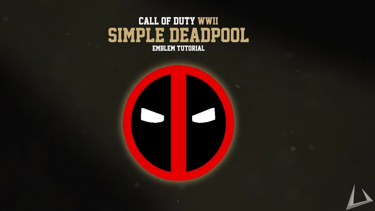 Quick and Fast DEADPOOL Emblem - Call of Duty: WW2 Emblem Tutorials #1