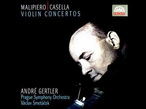 Casella: Violin Concerto in A minor, Op. 48 - 1. Primo tempo - André Gertler (1974, Supraphon)