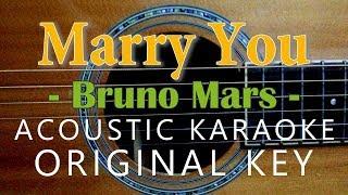 Marry You - Bruno Mars [Acoustic karaoke]
