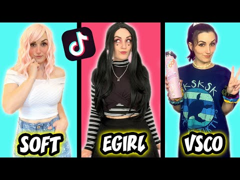 Transforming Into Tik Tok Girls (VSCO Girl, Soft Girl, E Girl)