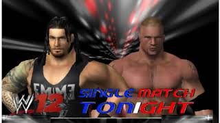 Roman Reigns vs Brock Lesnar in WWE12 PC game