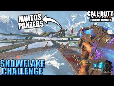 SNOWFLAKE CHALLENGE MAIS UM MAPA DESAFIO ESTILO OCTAGONAL - Black Ops 3 - Custom Zombies