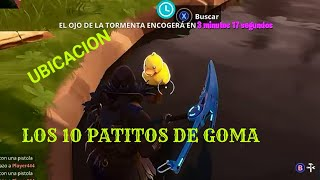 UBICACION DE LOS 10 PATITOS DE GOMA / FORTNITE BATTLE ROYALE