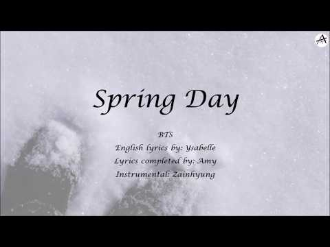 Chords For Spring Day 봄날 English Karaoke Bts 방탄