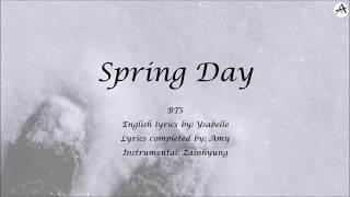 Spring Day 봄날 English KARAOKE BTS 방탄소년단 Completed Ysabelle s Lyrics