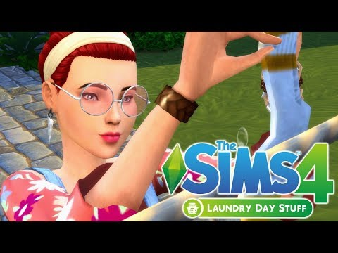 GAMEPLAY FIRST LOOK - The Sims 4 Laundry Day Stuff