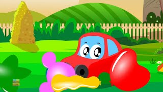 Blowing Balloons | Little Red Car Videos | Car Cartoons for Babies