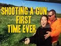 Girl's first time shooting. Funny reaction :) !!!