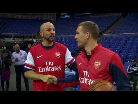 The Nets Play HORSE with Arsenal Footballers
