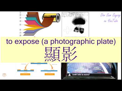 """TO EXPOSE (A PHOTOGRAPHIC PLATE)"" in Cantonese (顯影) - Flashcard"