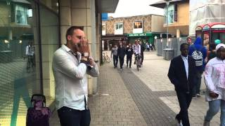 Jack DSJ Greenough Helping the homeless by beatboxing harmonica! Skills!