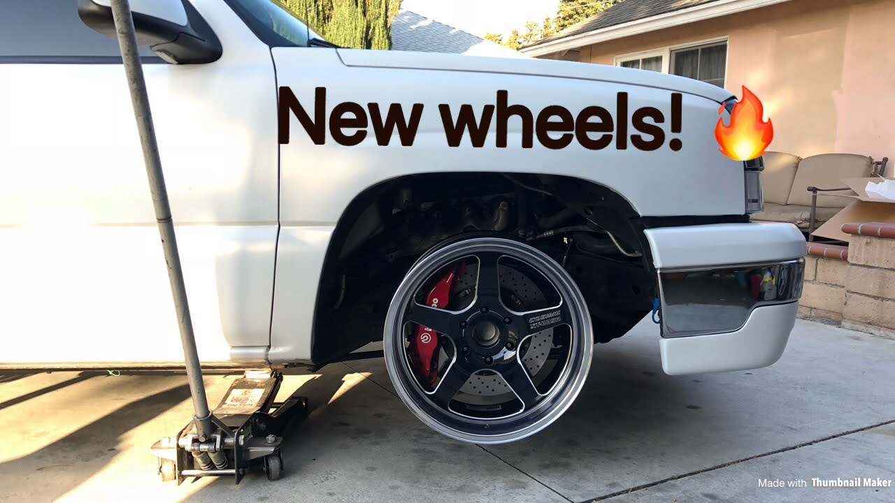 NEW WHEELS! Cosmis Racing Wheels for a Silverado! (Test ...