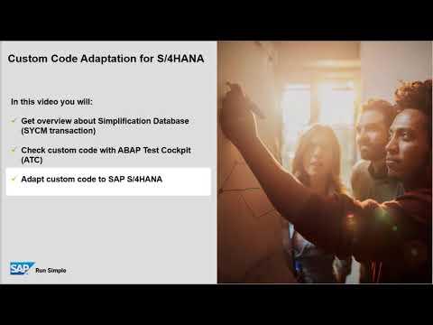 Custom Code Adaptation for SAP S/4HANA - YouTube