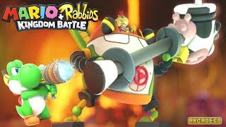 Mario + Rabbids Kingdom Battle - Defeat Bowser JR Unlock Yoshi (World 4 Lava Pit Boss Battle(