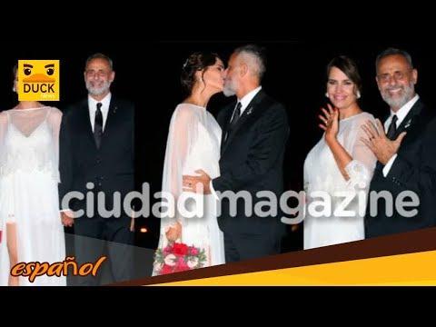 Jorge Rial y Romina Pereiro ya son marido y mujer mirá sus elegantes looks, el anillo y el apasiona