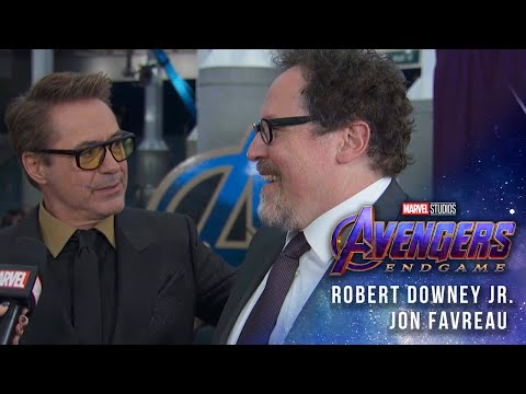 Robert Downey Jr & Jon Favreau talk 10 years of Iron Man at the Avengers: Endgame Premiere