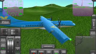ATR 72 Landing on the Runway without landing gear