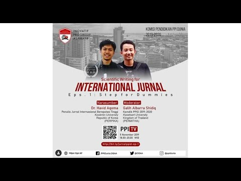 [LIVE] Scientific Writing For International Journal Eps. 1 | PPID 2019-2020