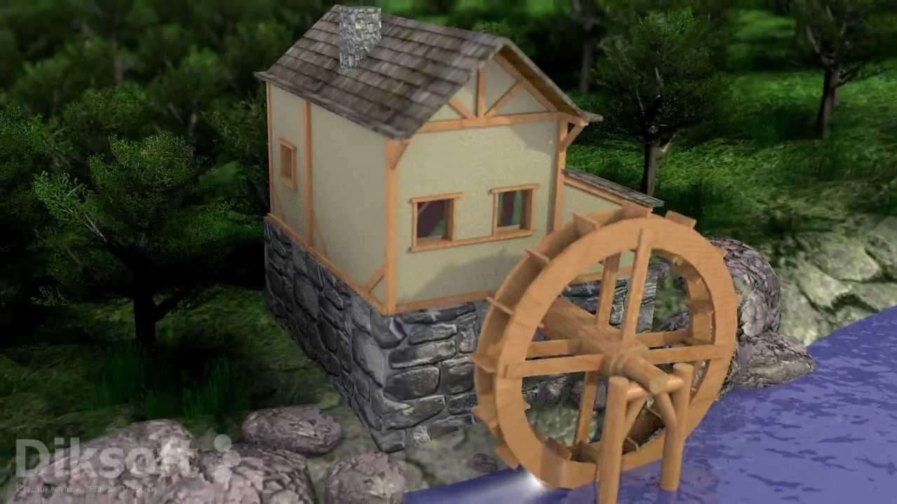 Водяные мельницы на даче своими руками